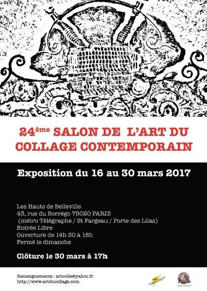 Invitation salon du collage 2017 pub for Salon art contemporain paris